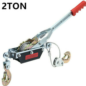 2 Ton hand winch wire rope Cable Puller  hook  for caravan boat trailer lifting