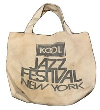 Real Vintage Kool Cigarettes ~Kool Jazz Festival Cotton Tote bag 1980s New York