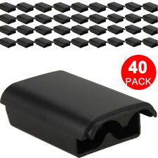 40x Battery Pack Cover Shell Case Kit for Xbox 360 Wireless Controller Black USA