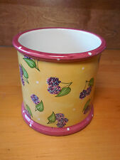 """Essex Bois D'Arc TUTTI FRUITTI Small Canister 5"""" NO LID Yellow"""