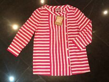 NWT Juicy Couture New & Genuine Ladies Small Pink/Cream Striped Blouse UK Size 8
