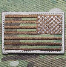 AMERICAN USA REVERSE FLAG MULTICAM ISAF HOOK & LOOP MORALE BADGE PATCH