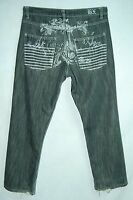 Paint EMBELLISHED Backside Relaxed Classic Rise BROOKLYN XPRESS Jeans! 34/30