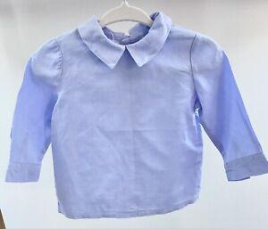 Amaia Kids Baby Girls Blue Cotton Shirt Blouse Age 6 Months
