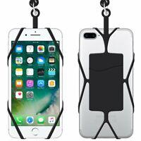 """Lot 2 Tours de cou noir universel smartphone/mobile Apple iPhone de 5,3 à 5,7"""""""