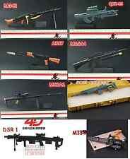 Set of 8 1/6 Scale Weapon MG42 QBZ95 AK47 M16A4 M82A1 M14ER DSR1 M134 Toys B&G