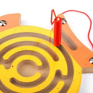 Kid Wooden Toy Magnetic Maze Pen Labyrinth Educational Puzzle Toy Games Supplies
