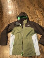 North Face youth Green/brown jacket lined with fleece size Xl 18/20