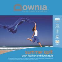 Downia Summer Lightweight Duck Down & Feather Quilt DOONA DOUBEL/QUEEN/KING NEW