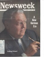 LUDWIG ERHARD, CHANCELLOR OF GERMANY, SIGNED MAGAZINE COVER / AUTOGRAPH