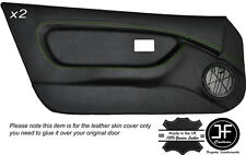 GREEN STICH 2X FULL DOOR CARD TRIM LEATHER COVERS FITS MG MGF MK1 95-99 STYLE 2