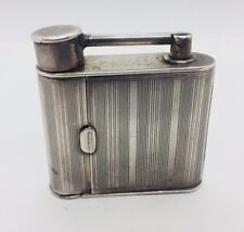 Dunhill Vanity Rare Vintage Sterling Silver Lighter Form Mirror Lipstick Compact