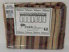 Park Designs Birch Wood Pattern Valance 72 x 14 Inches with 2 Inch Rod Pocket