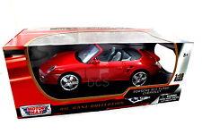 MOTORMAX PORSCHE 911 TURBO CONV RED 1/18 DIECAST CAR 73183RD