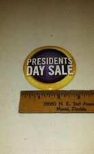 Chevrolet Motors Presidents Day Sale Large 3 InchButton - Collector item