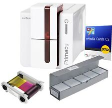 EVOLIS PRIMACY on Both Sides USB Ethernet RED PM1H0000RD Bundle Card Printer