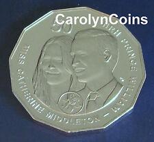 50c Coin 2011 Royal Wedding Catherine Middleton & Prince William Australian 50c