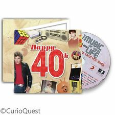 40th Birthday Card with 20 Track 'Music of Your Life' CD
