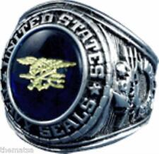 NAVY SILVER SEALS SEAL TEAM TRIDENT MILITARY RING SIZES 7 8 9 10 11 12 13 14