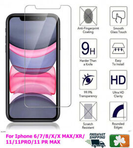 Premium Quality Tempered Glass Screen Protector For Apple iPhone 5/6/7/8/X/11/12