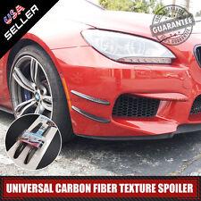Universal Front & Rear Bumper Lip Splitter Fins Spoiler Carbon Fiber Style Look