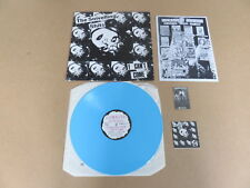 THE SNIVELLING SHITS I Can't Come UK BLUE VINYL PRESSING LP & STICKERS & INSERT