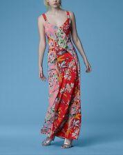 NWT Diane von Furstenberg  Paneled floral print Maxi Dress size 4