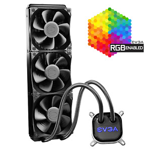 NEW EVGA CLC 360mm All-In-One RGB LED CPU Liquid Cooler 3x FX12 120mm PWM Fans