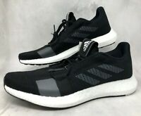 Womens Adidas SenseBoost GO Running Shoes Size 10 Black/White-Grey F33906 $120