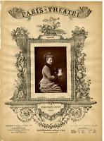 Lemercier, Paris Theatre, Margeurite Donyé vintage print Photoglyptie  9x13