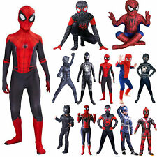 Baby Boys Toddler Spiderman Cosplay Costume Superhero Fancy Dress Up Outfits Set
