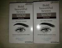 2 Dark Brown Tinted Brow Stying Gel ~ Equate Bold Beautiful ~ Brow Volumize