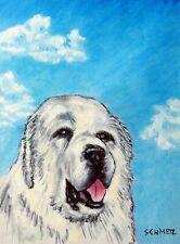 great pyrenees  art PRINT 11x17 glossy impressionism animals dog gift new