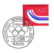 RFA 1976: Olympique Jeux d'hiver N° 875 avec le Bonner Cachet du premier jour 1A