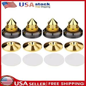 4pcs Speaker Spikes Stand CD Subwoofer Amplifier Turntable Isolation Feet