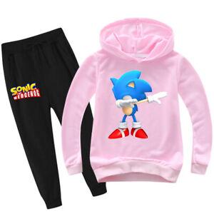 Sonic The Hedgehog Unisex Kids Sweatshirts Cartoon Hoodies + Trousers 2PCS/set