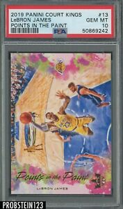 2019-20 Panini Court Kings Points In The Paint #13 Lebron James Lakers PSA 10
