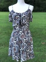 American Eagle Outfitters Size XXS Small Blue Paisley Boho Babydoll Slip Dress