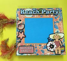 New listing Premade Mini Scrapbook Album - Beach Party - G45 Papers - 6 x 6 Chipboard