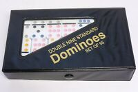 Vintage Double Nine Standard Dominoes 55 Piece Set Original Case Clean