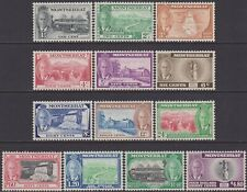 FULL SET Montserrat KGVI 1951 Definitive 1c-$4.80 MLH Stamps SG123-SG135