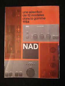 Brochure NAD - selection de 12 modèles dans la gamme 1984 - 3150  CD 5200  5120