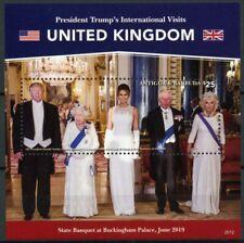 More details for antigua & barbuda donald trump stamps 2020 mnh visits queen elizabeth ii 1v s/s