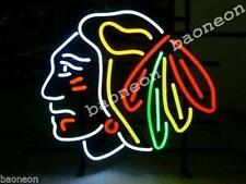 New CHICAGO BLACKHAWKS CHAMPIONS Hockey BEER BAR REAL NEON LIGHT SIGN Free Ship