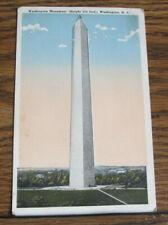 Vintage Postcard Washington Monument Height 555 feet Washington D. C. Reynolds