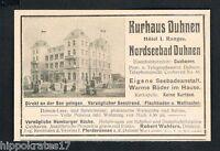 DUHNEN, Werbung 1904, Hotel Kurhaus  Nordseebad Robert Wahlers Reklame (52)