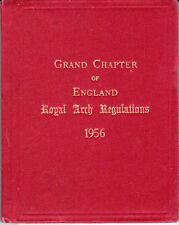 10050. Masonic Order Royal Arch Grand Chapter Constitutions 1956