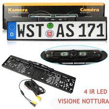 170 ° Visione Nottura Portatarga con telecamera Retromarcia Auto Retrocamera