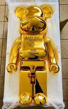 Bait Gold Bar 1000% 100% Bearbrick Be@rbrick Medicom Toy Chrome Rare Limited Gld