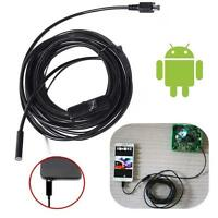 2M Android 6LED 7mm Lens Endoscope Waterproof Inspection Borescope Camera USB FV